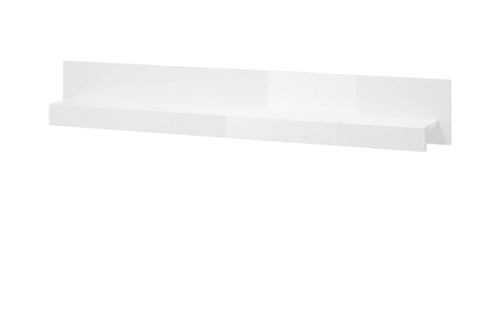 Wandboard Carat in weiß Hochglanz