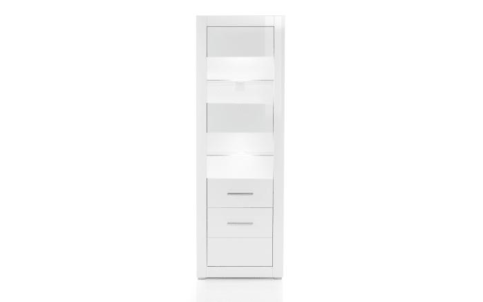 Vitrine Bianco in weiß/ Hochglanz-02