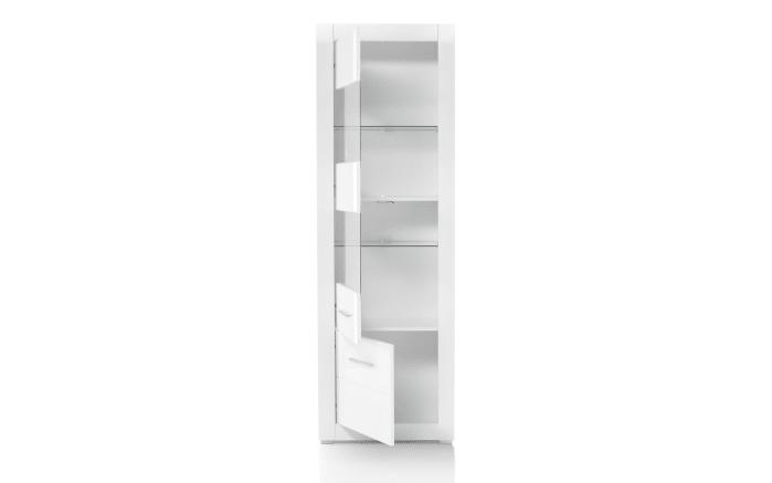 Vitrine Bianco in weiß/ Hochglanz-Optik