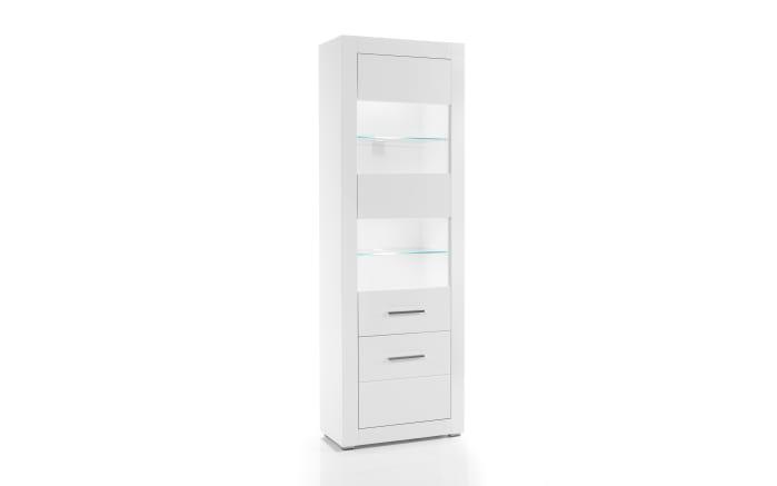 Vitrine Bianco in weiß/ Hochglanz-01
