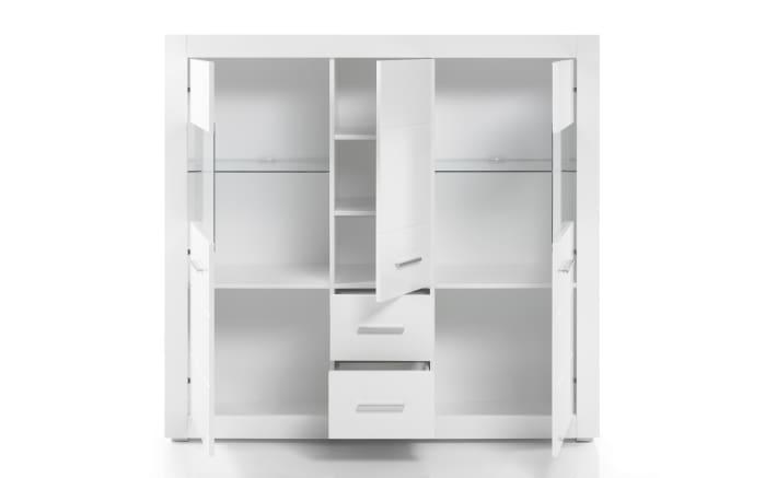 Highboard Bianco in weiß/ Hochglanz-Optik