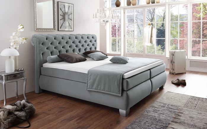 boxspringbett chester in rot online bei hardeck kaufen. Black Bedroom Furniture Sets. Home Design Ideas