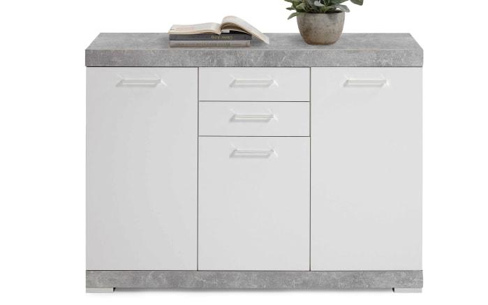 Kommode Bistrol 3 XL in Betonfarbig-weiß Edelglanz