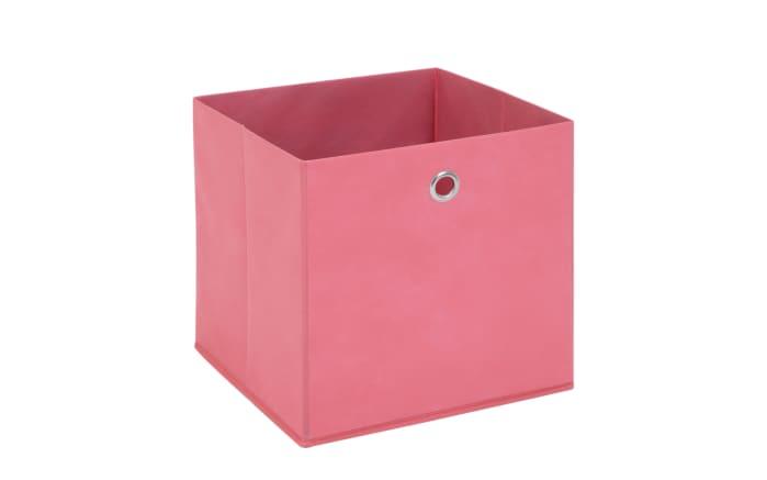 Aufbewahrungsbox in pink, 32 x 32 cm
