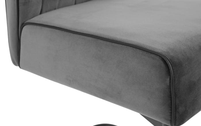 Schwingstuhl Manacor in grau, mit schwarzem Metallgestell-04