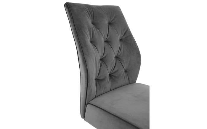 Schwingstuhl Manacor in grau, mit schwarzem Metallgestell-02
