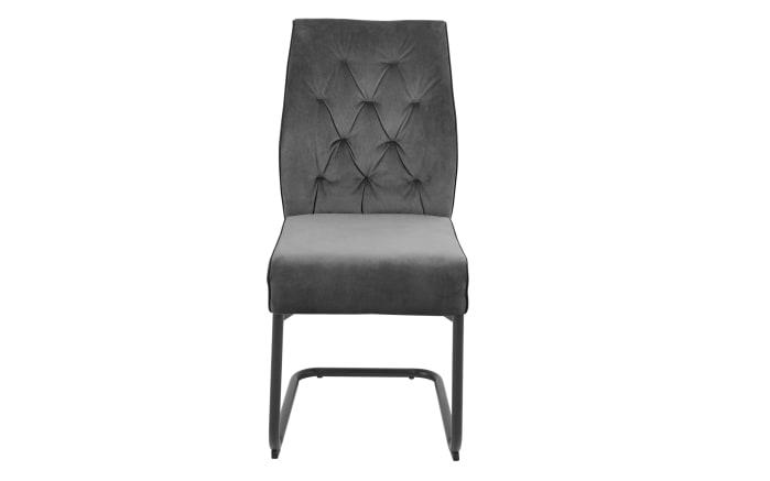 Schwingstuhl Manacor in grau, mit schwarzem Metallgestell-01