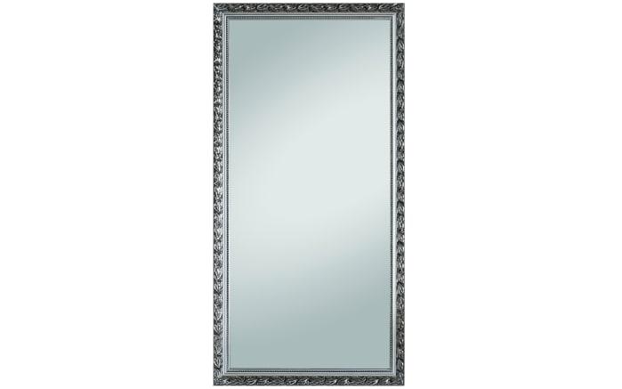 Holzrahmenspiegel Pius in Silber-Optik, 100 x 200 cm