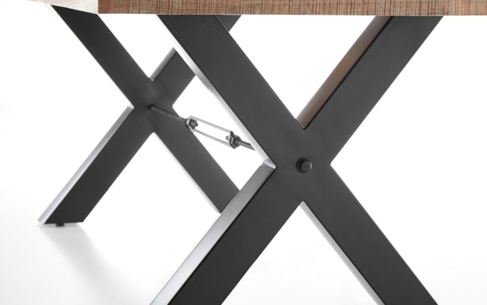 Esstisch Dehli in Mango Wood, Metallgestell in schwarz matt-04
