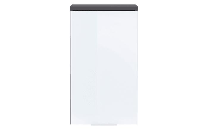 Hängeschrank Pescara in weiß Glas/graphit