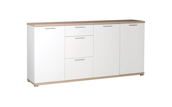 Sideboard GW-Top in weiß/Sonoma-Eiche-Optik