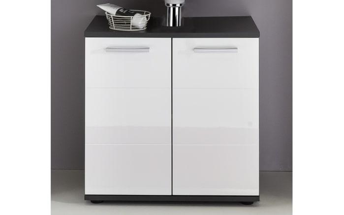 Waschbecken-Unterschrank Smart in weiß Hochglanz/grau matt online ...