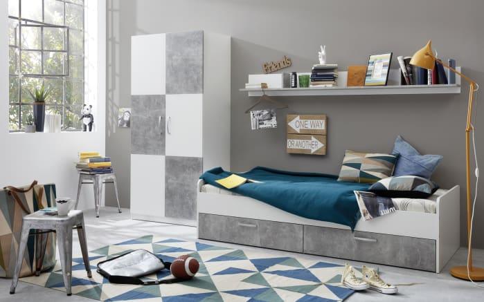 jugendzimmer canaria in wei absetzungen in stone optik online bei hardeck entdecken. Black Bedroom Furniture Sets. Home Design Ideas