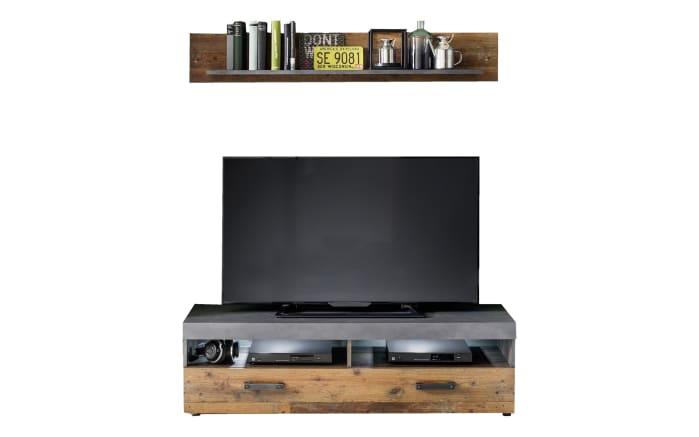 TV-Unterteil Indy in graphit/Matera Oldwood-Optik