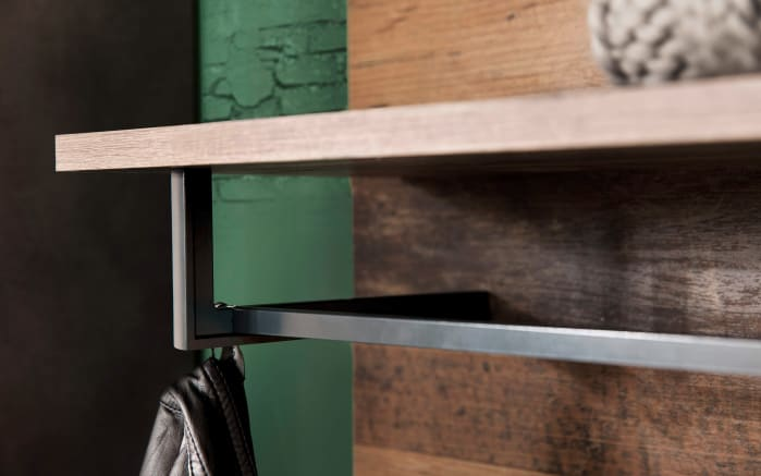 Garderobenpaneel Indy in Old Wood-Nachbildung/graphit-04