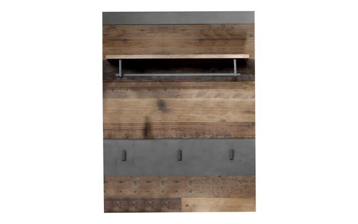Garderobenpaneel Indy in Old Wood-Nachbildung/graphit-01