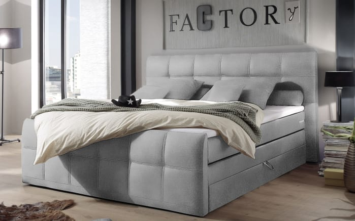 boxspringbett sacramento b2 in grau online bei hardeck kaufen. Black Bedroom Furniture Sets. Home Design Ideas