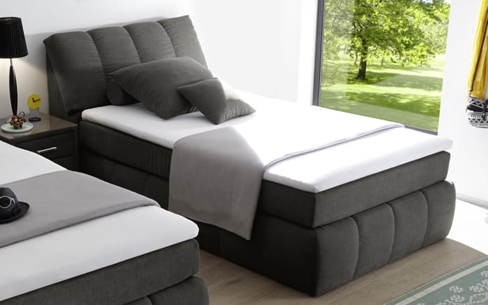 Boxspringbett Toledo 2 in anthrazit