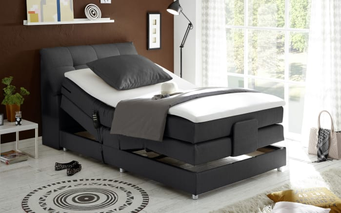 Boxspringbett Concord 3 in anthrazit