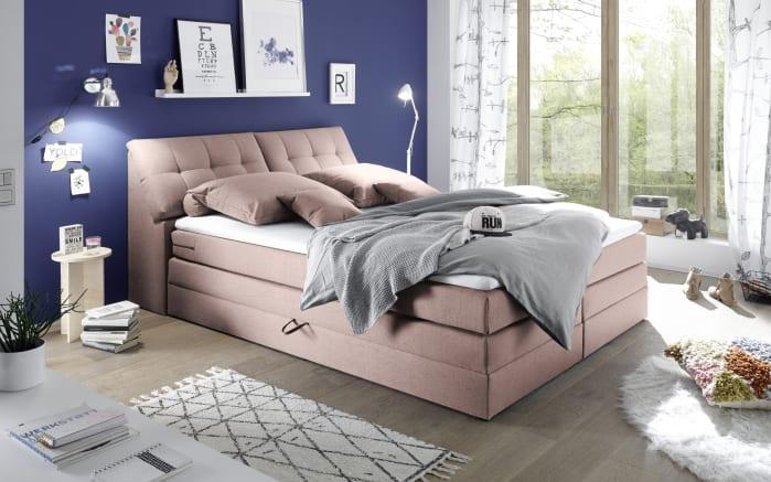 Boxspringbett Space 2 in rosa, Liegefläche ca. 180 x 200 cm