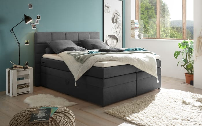 Boxspringbett Tacoma 3 in Soro anthrazit