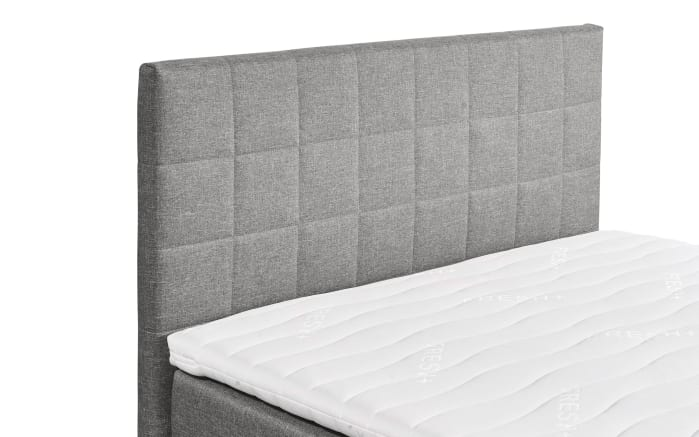 Boxspringbett Hawaii 2 in light grey, mit Bettkasten, inklusive Komfortschaum-Topper-03