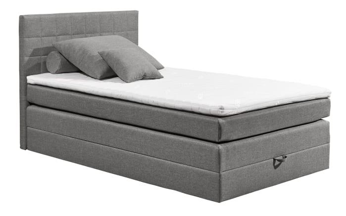 Boxspringbett Hawaii 2 in light grey, mit Bettkasten, inklusive Komfortschaum-Topper-04
