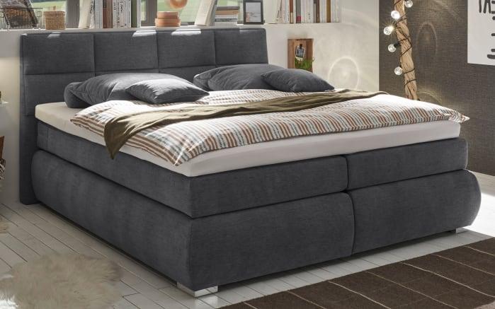 Boxspringbett Bologna 8 in graphite,mit Bettkasten, inklusive Komfortschaum-Topper