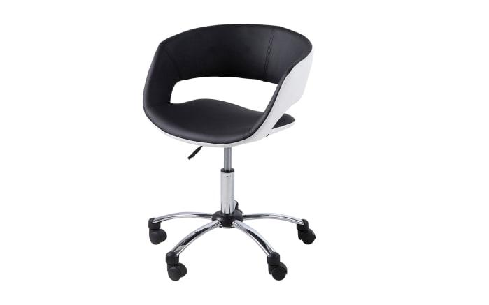Bürostuhl Grace in schwarz/weiß
