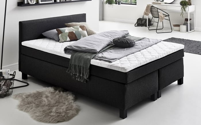 Boxspringbett BX1480 Kansas in schwarz