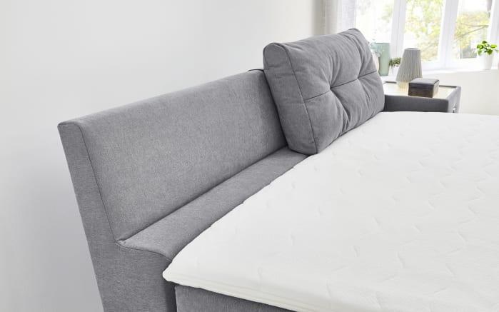 Boxspringbett Lea in grau, mit 2 Rückenkissen, Liegefläche ca. 180 x 200 cm-02