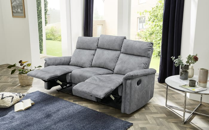 Sofa Amrum 3 in Vintage hellgrau