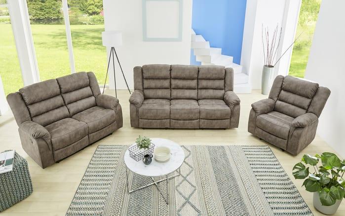Sofa Cleveland 3 in Vintage grau-braun