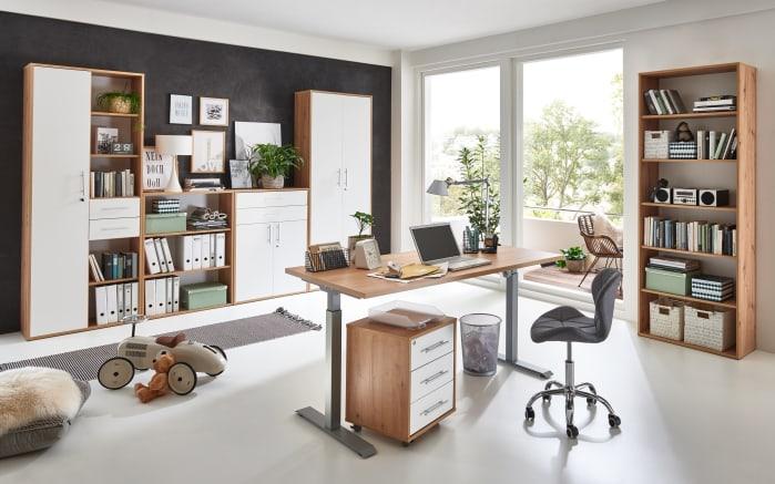 Schrank 7005 in Artisan Oak Nachbildung-weiß Matt