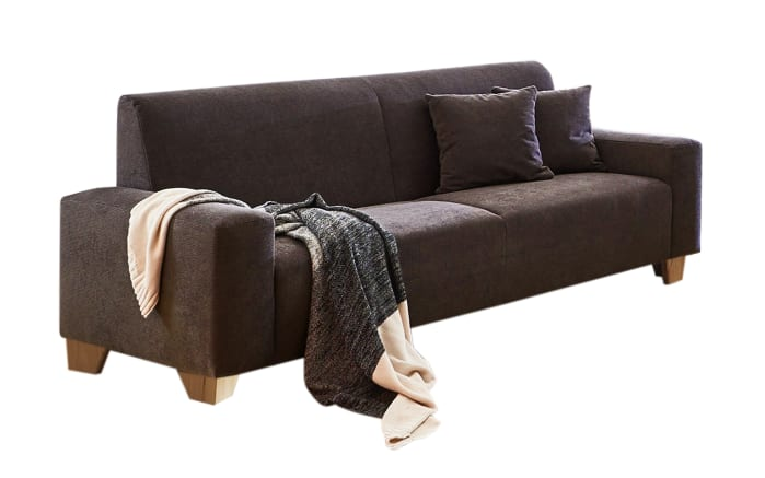 Sofa 3-Sitzer Julia in braun, mit Federkern-Polsterung und Kissen-01