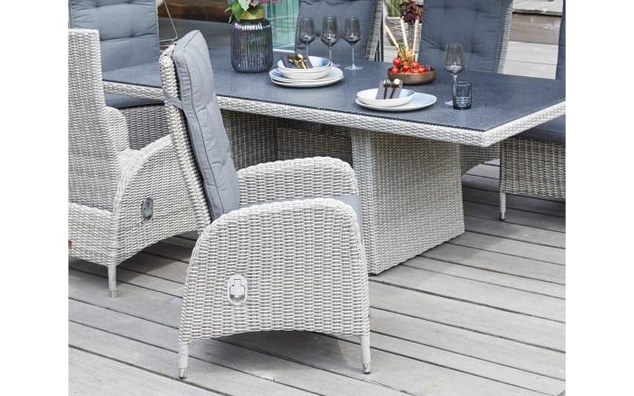 Garten-Positionsstuhl Nizza in white-grey