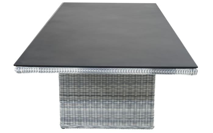Gartentisch Petrana in grau-weiß, meliert