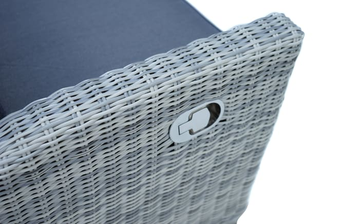 Garten-Loungesofa Petrana in grau-weiß, meliert