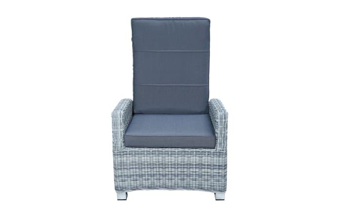 Garten-Loungesessel Petrana in grau-weiß, meliert