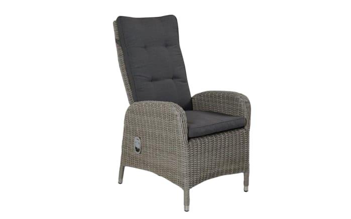 Garten-Positionsstuhl Bilbao in stone grey, manuelle Rückenverstellung