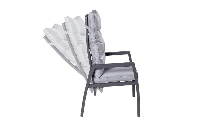 Garten-Positionsstuhl Bondino in anthrazit/grau