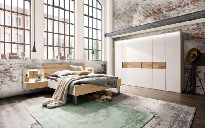 Schlafzimmer Cova in Wildeiche massiv/Lack weiß