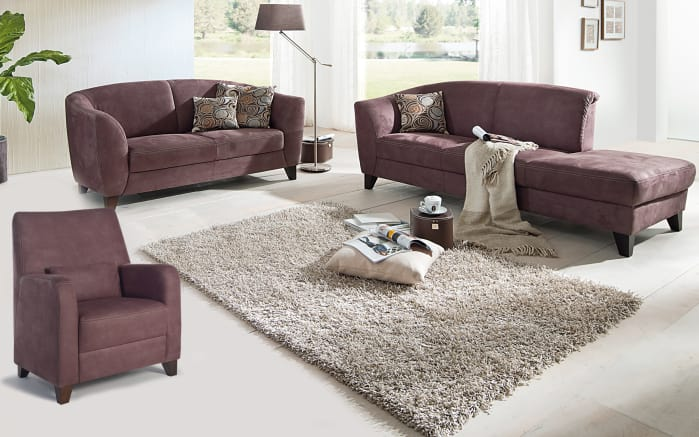 polstergarnitur venezia in braun online bei hardeck kaufen. Black Bedroom Furniture Sets. Home Design Ideas