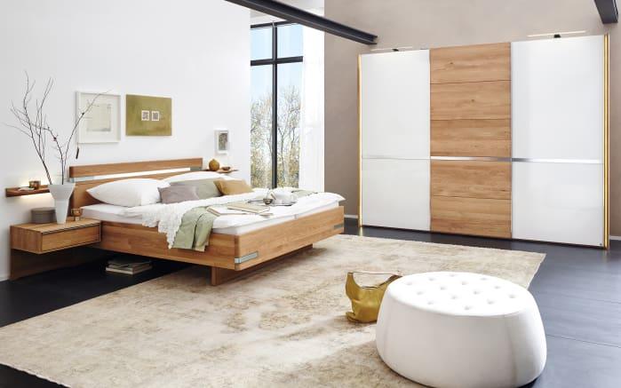schlafzimmer savona eiche massiv glas wei online bei hardeck entdecken. Black Bedroom Furniture Sets. Home Design Ideas