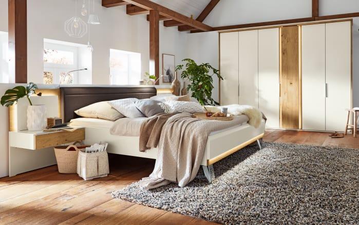 Schlafzimmer Saphira in weiß/Balkeneiche furniert