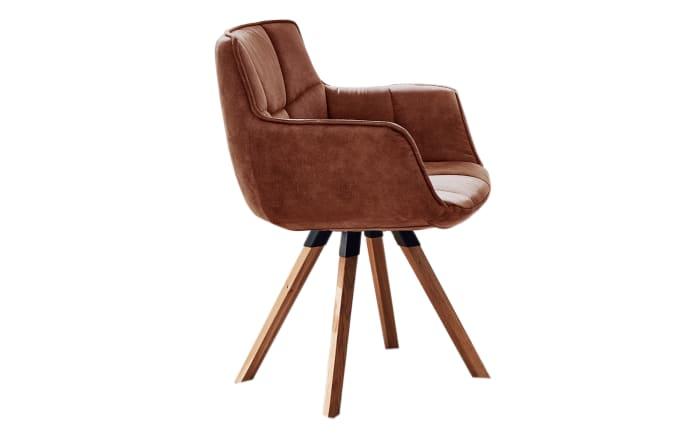 Stuhlgruppe Tamina aus Charaktereiche massiv/Eisen schwarz