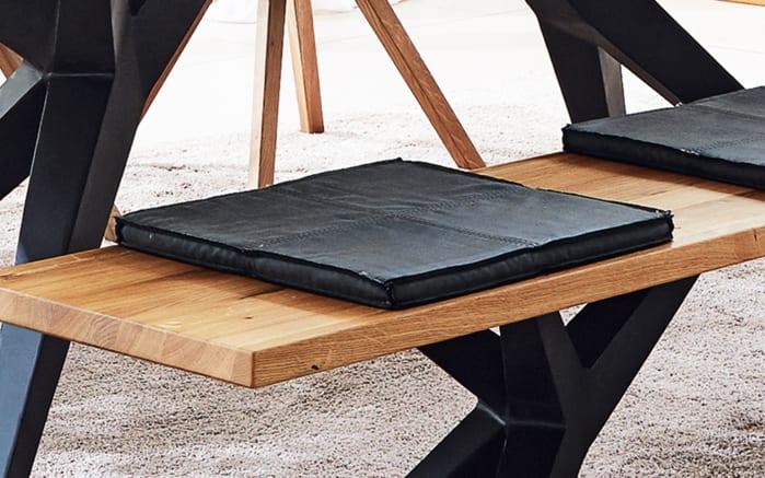 Designbank Tamina aus massiver Charaktereiche, mit Eisengestell-02