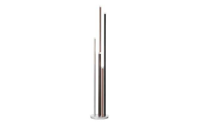 LED-Standleuchte Cembalo in braun/schwarz/alu, 155 cm-01