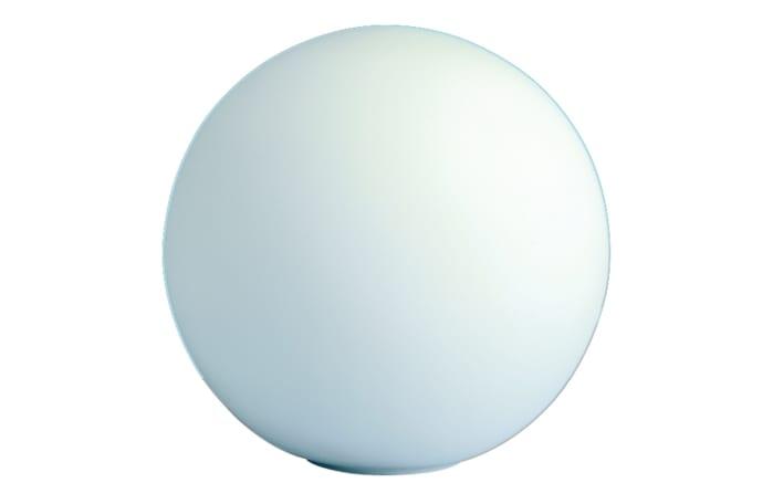 Tischleuchte Glaskugel in weiß, 20 cm