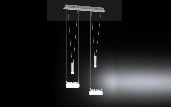 LED-Pendelleuchte Jesse in nickel matt/chrom, 2-flammig